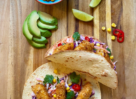 Fish Tacos, Chipotle Mayo and Slaw