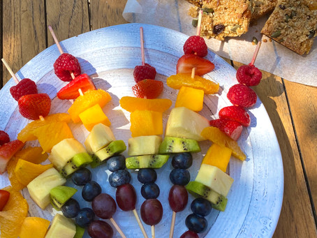 NHS Rainbow Fruit Skewers & Fruity Oat Bars