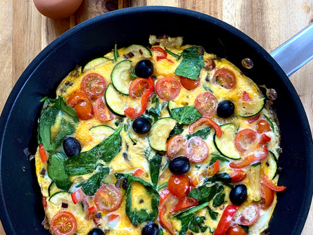 Full English vs Veggie Frittata