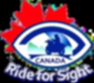 1 RIDE FOR SIGHT CANADA Logo White Lette