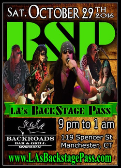 10 BSP Sat29Oct2016 Backroads bar and grill Manchester poster