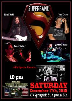12 Sat17Dec16 Superband poster The Tank