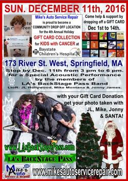 12 Sun11Dec16 Mikes Mstr Auto Service GIFT CARD DONATIONS