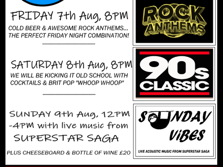 Summer Weekends are Hotting Up at The Crow!