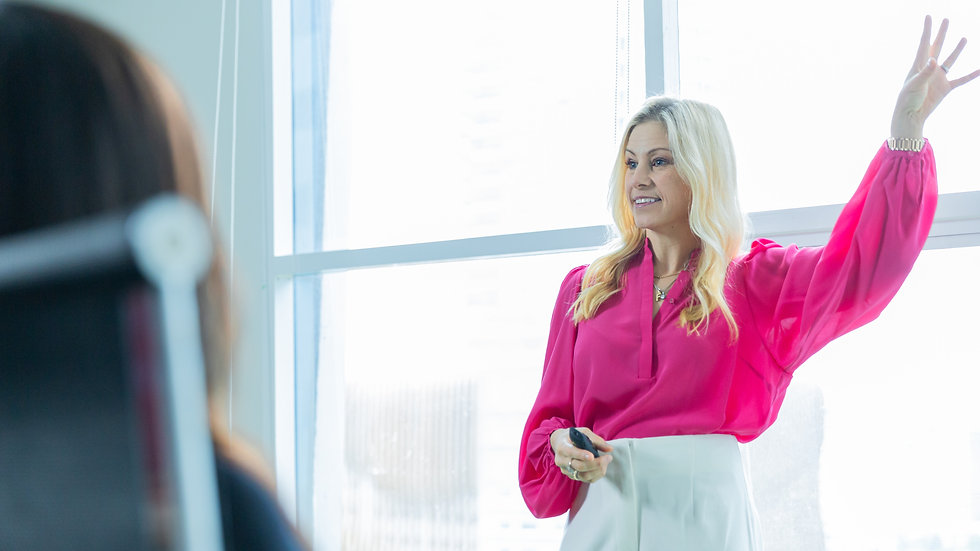 Alisa Camplin holds one of her in-demand keynote speeches on resilience, mindset, goal planning and wellbeing to corporate professionals looking to elevate their performance and sustain success (both personally and professionally).