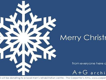 Season's greetings from the very merry team at A+G Architects.