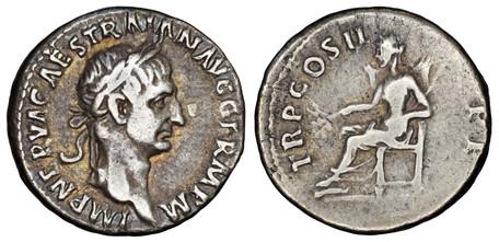 Trajan Denarius - Pax (RIC 30), 98-99 AD