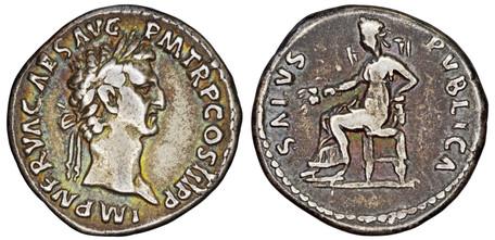 Nerva Denarius - Salus Publica (RIC 20), 97 AD