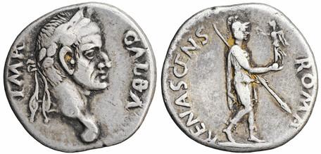 Galba Denarius - Roma Renascens (RIC 28), 68 AD