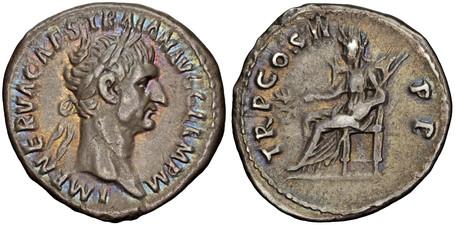 Trajan Denarius – Pax (RIC 30), 98-99 AD