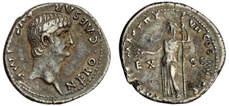 Nero Denarius - Ceres (RIC 24), 60 AD