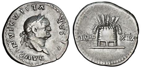 Vespasian Denarius - Modius (RIC 980), 77 AD