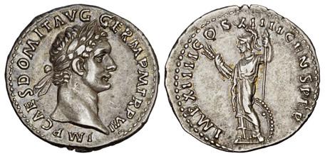 Domitian Denarius - Minerva (RIC 109), 88 AD
