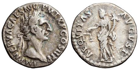 Nerva Denarius - Aequitas (RIC 1), 96 AD