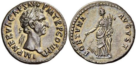 Nerva Denarius - Fortuna Standing (RIC 4), 96 AD