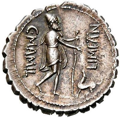 Roman coin Odysseus and Argos