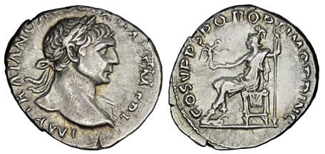 Trajan Denarius - Roma (RIC 116), 103-111 AD