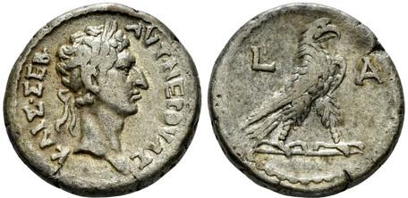 Nerva Tetradrachm - Eagle Standing (Dattari 639), 96 AD
