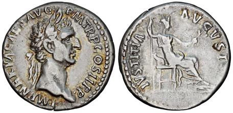 Nerva Denarius - Justitia (RIC 6), 96 AD