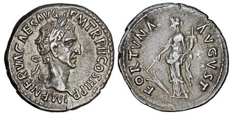 Nerva Denarius - Fortuna (RIC 28), 97 AD