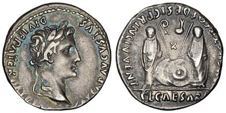 Augustus Denarius - Gaius and Lucius Caesar (RIC 211), 2 BC