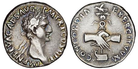 Nerva Denarius - Concordia Exercitum (RIC 3), 96 AD