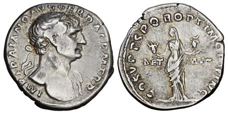Trajan Denarius - Aeternitas (RIC 91), 103-111 AD