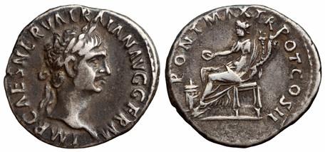 Trajan Denarius - Concordia (RIC 12), 98-99 AD