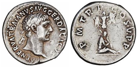Trajan Denarius - Dacian Captive (RIC 49), 103-111 AD