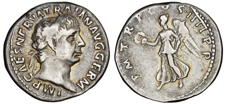 Trajan Denarius - Victory (RIC 60), 101-102 AD