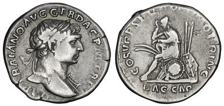 Trajan Denarius - Dacian Captive (RIC 98), 103-111 AD