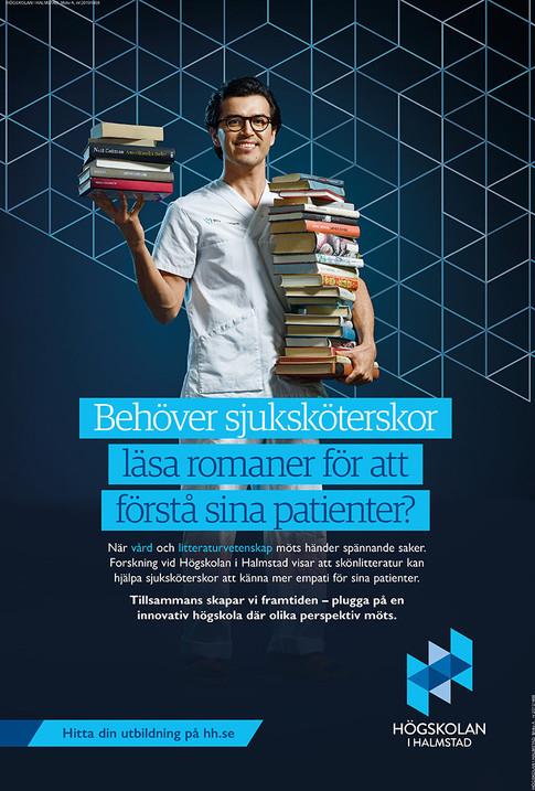 Halmstad högskola kampanj 2020. Foto: Jesper Molin