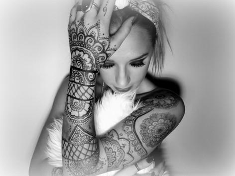Crazy bodypaint: Hår, makeup & Henna: Emma Schatz
