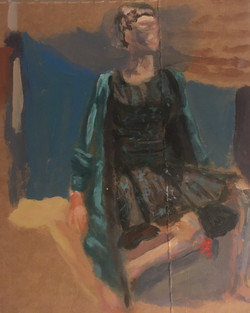 Woman With the Green Skirt