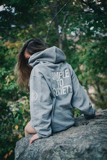Grey Logo Pullover Hoodie