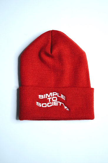 Classic Beanie | Fire Red