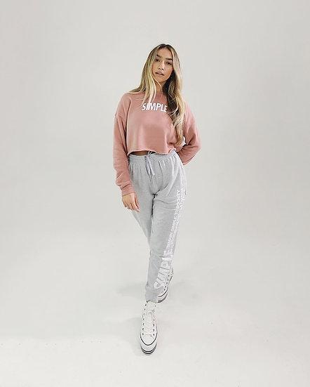 SIMPLE® Crop Top Crewneck | Rośe Pink