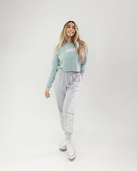 SIMPLE® Crop Top Crewneck | Seafoam Green