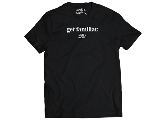 """The Lower Case"" T-Shirt | Black"