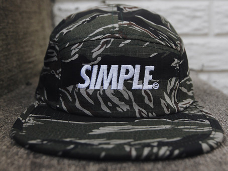 SIMPLE© 5-PANEL HATS WILL BE AVAILABLE 8/25!