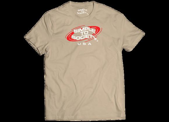 Planetary T-Shirt   Tan