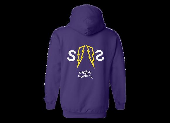 """Classic Thunderbolt"" OG Logo Hoodies | Purple"