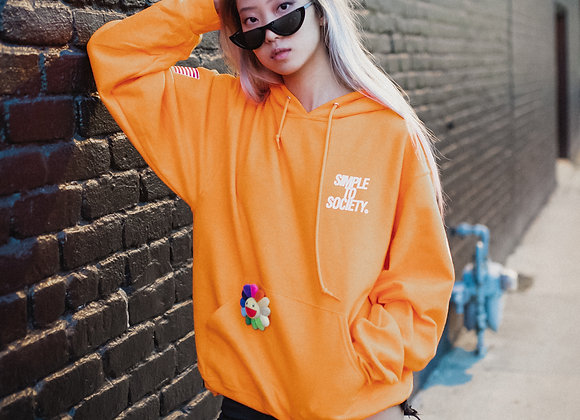 Orange Logo Pullover Hoodie