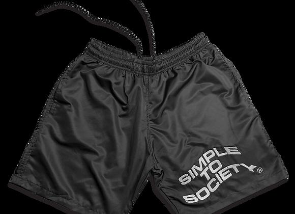 Embroidered Lightweight Essential Shorts | Black