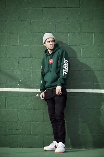 Box Logo Hoodie | Forest Green