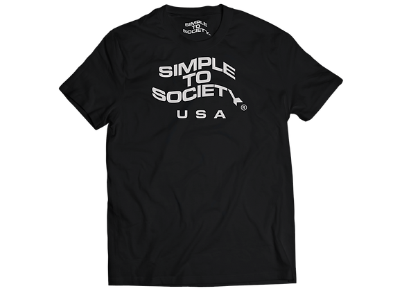 """Simple To Society USA Logo"" T-Shirt // Black"