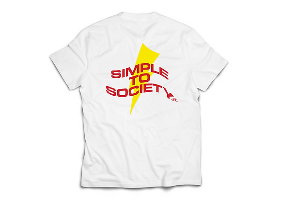 Simple To Society® Bolt T-Shirt   White