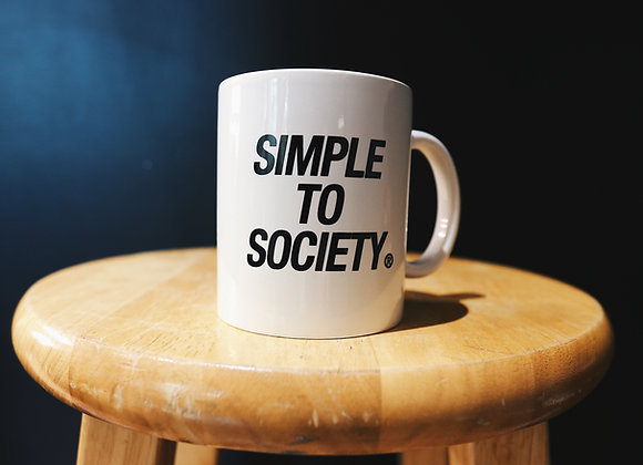 Simple To Society® Coffee Mug | White