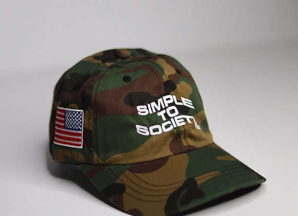 """""""Simple To Society USA"""" Dad Hat   Camo"""