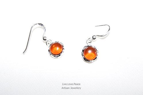 'Baltic Amber' Sterling Silver Hook Earrings